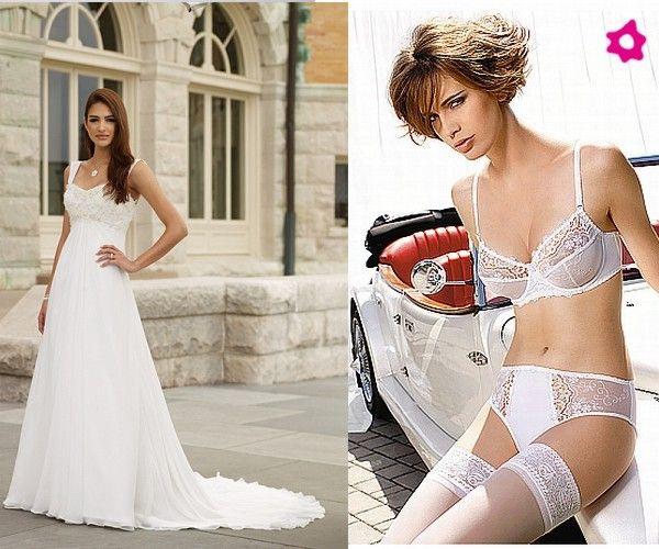 Lingerie para vestidos de noiva com bordados no peito