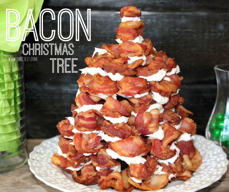 Bacon christmas tree fun unique outrageous food for Bacon christmas tree decoration