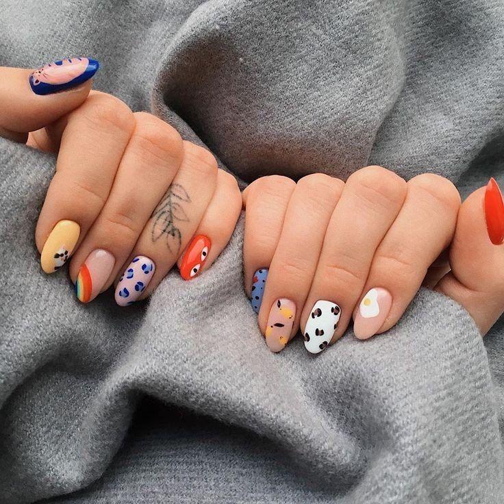2020 Seductive Nail Art Styles In 2020 Minimalist Nails Heart Nails Stylish Nails