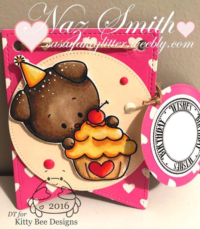 Kitty Bee DT Spotlight -Cupcake Surprise Pup - Sasayaki Glitter