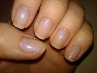 I always get this:  Shellac manicure in Negligee (2 coats)