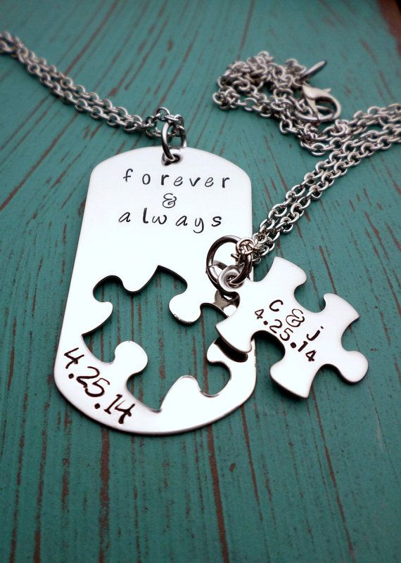 Forever and Always Necklace Set Puzzle by HandmadeLoveStories