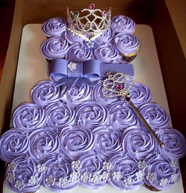 A beautiful cupcake cake for showers or birthday http://flaary.com/