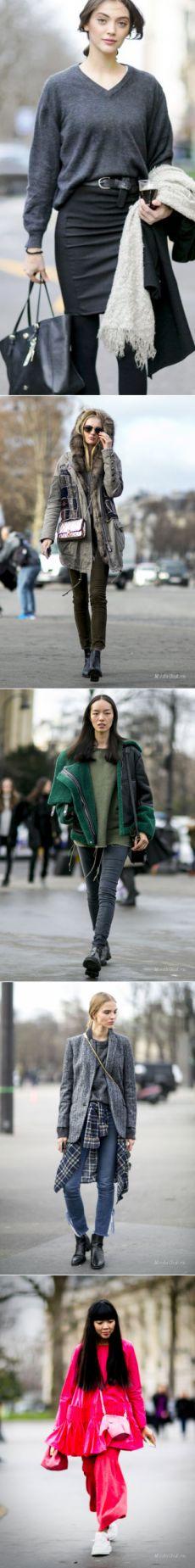 Неделя высокой моды в Париже весна-лето 2016: уличная мода от гостей показов и представителей индустрии моды