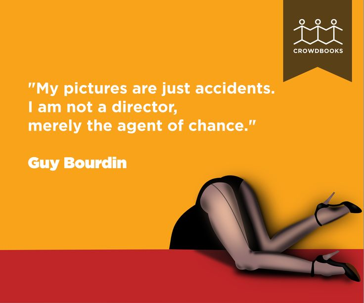 """My pictures are just accidents."" Guy Bordin bit.ly/crowd_books"