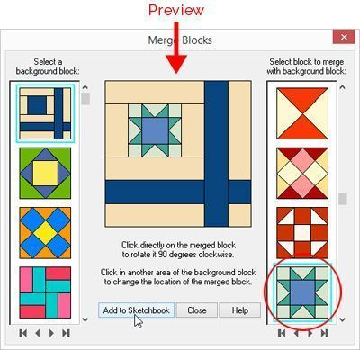 Merging Blocks to Create New Designs in EQ7