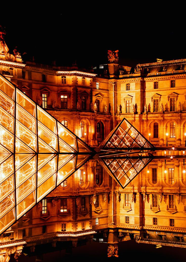 Paris: 'The Louvre', 12am, by Philip Newell. #photography #culture #World #travel