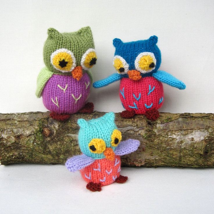 Amigurumi Owl Family : Owl Family - toy animal knitting pattern - PDF INSTANT ...
