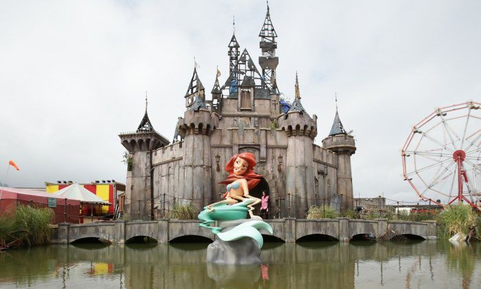 1/4 -  In week 7, the art instillation that stood out to me in the lecture was Dismaland by Banksy and other artists in London. I knew who Banksy was and I had heard about his project Dismaland a while ago, but I never really looked into or knew what the concept of it was. For this week I looked into his concept and why he created it.