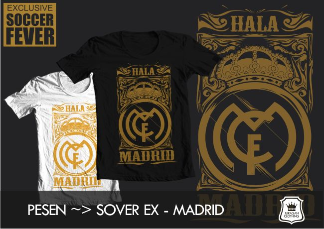 "Kaos REAL MADRID ""HALA MADRID"" [READY STOCK]  @BolaBolatshirt"