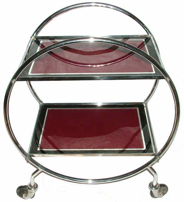 Original 1930s art deco chrome savoy trolley art deco for Deco 6 brumath