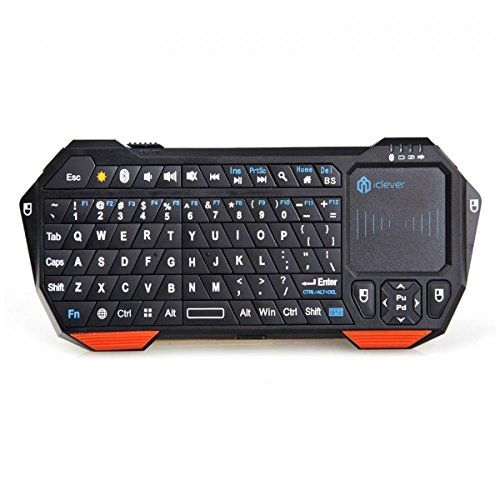 External Bluetooth Keyboard For Android Phone: IClever Ultra Portable Mini Wireless Bluetooth Keyboard Handheld With Mouse Touchpad Backlight