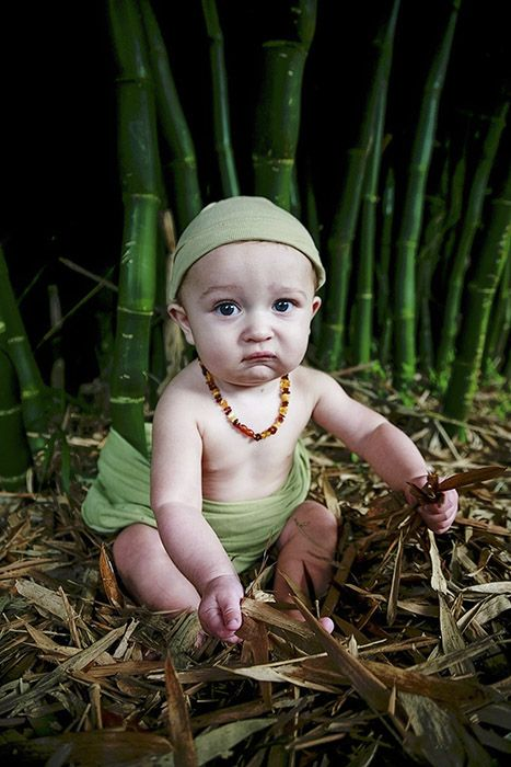 Baby in rainforest