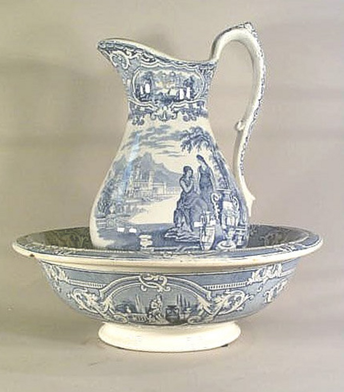 262 best old pitchers wash basins images on pinterest water jugs water pitchers and bowl set. Black Bedroom Furniture Sets. Home Design Ideas