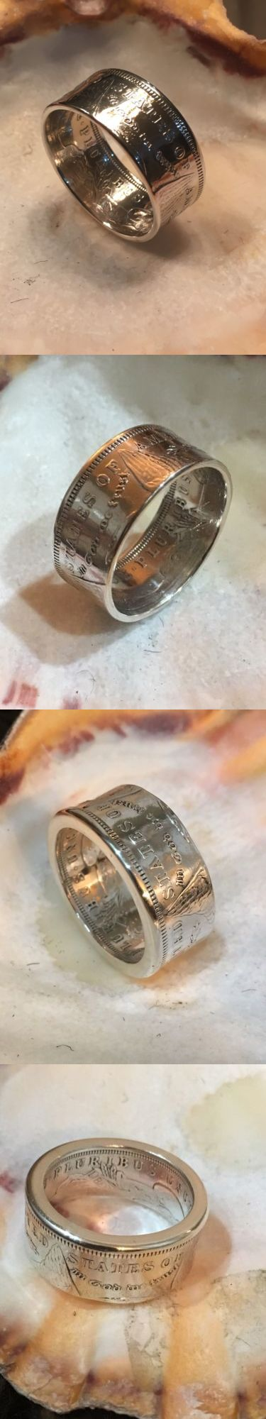 Rings 110666: Handcrafted Morgan Silver Dollar Coin Ring Men S Wedding Band 90% Silver Sz7-16 -> BUY IT NOW ONLY: $75 on eBay!