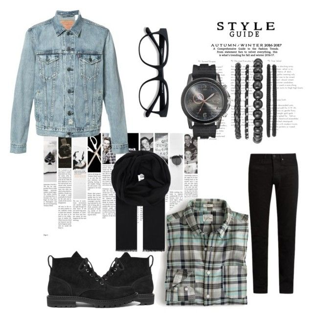 """""""#fashion #swag #style #stylish #me #swagger #cute #photooftheday #jacket #hair #pants #shirt #instagood #handsome #cool #polo #swagg #guy #boy #boys #man #model #tshirt #shoes #sneakers #styles #jeans #fresh #dope"""" by ylookfashion on Polyvore featuring J.Crew, Dries Van Noten, KURO, Levi's, Hardy Amies, men's fashion and menswear"""
