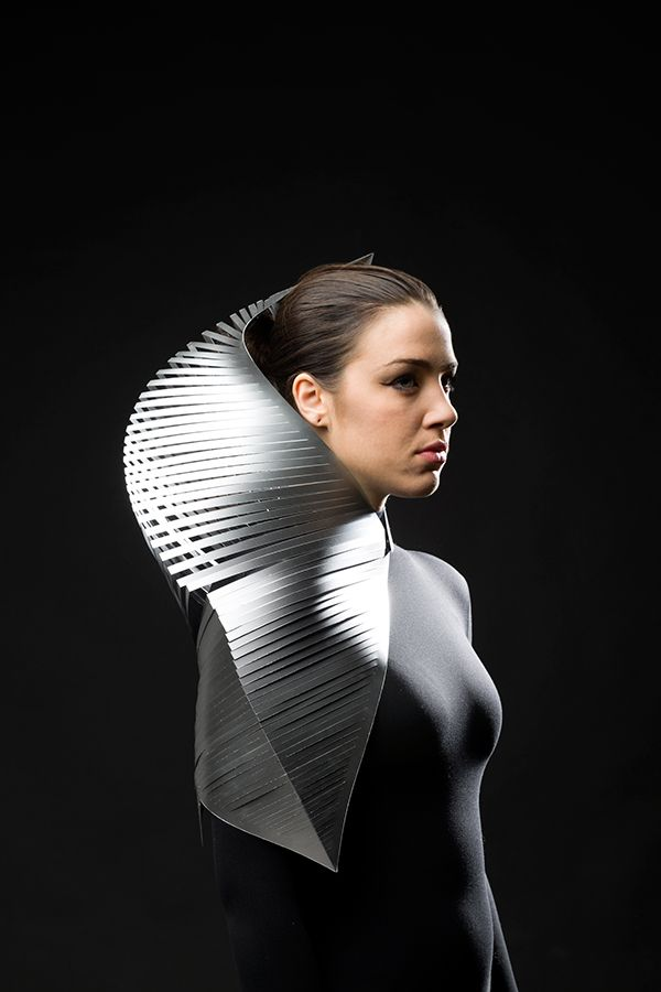 Sculptural Fashion - 3D shoulder piece; body jewellery; wearable art // Jacqueline Lung