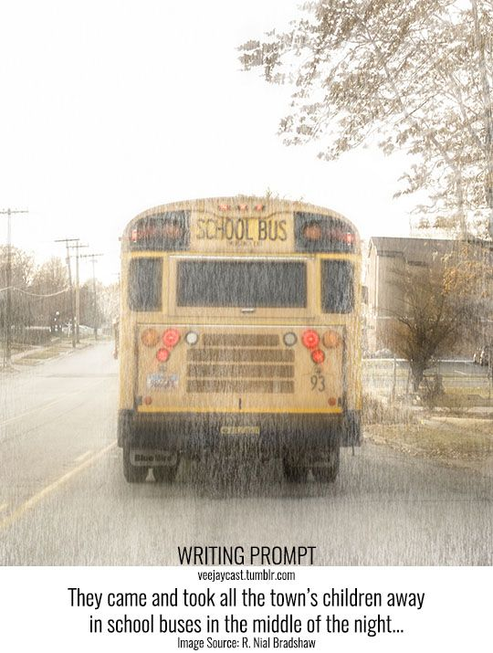 Prompt: They came and took all the town's children away in school buses in the middle of the night… Image Source: R. Nial Bradshaw via Flickr