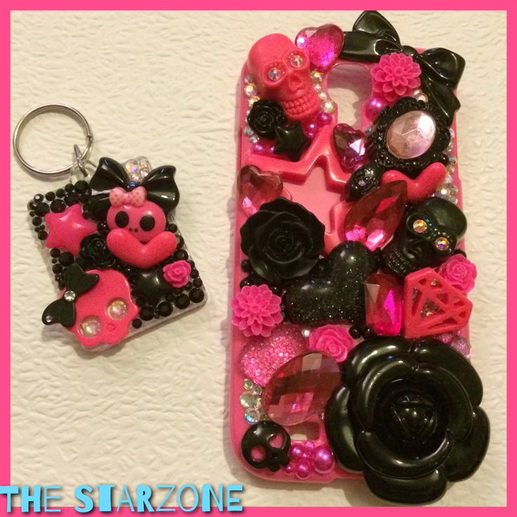 Hit pink n black skulls n stars with a matching keyring!!!