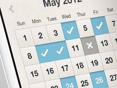Fitness App Calendar UI