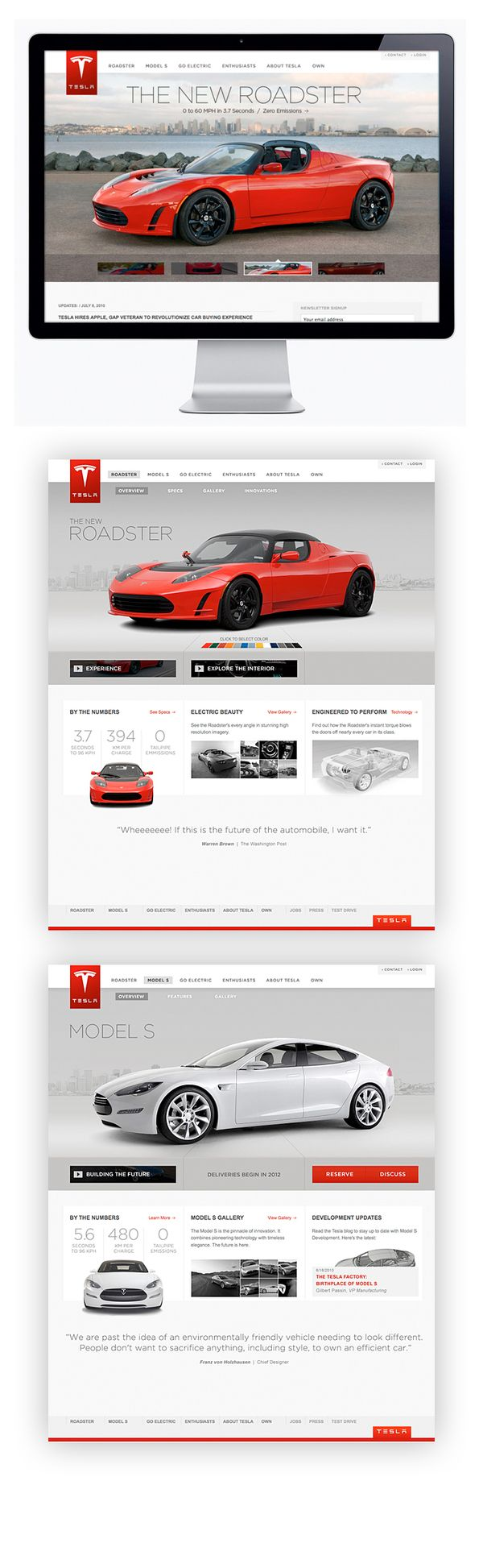 Tesla Motors by Moosesyrup , via Behance