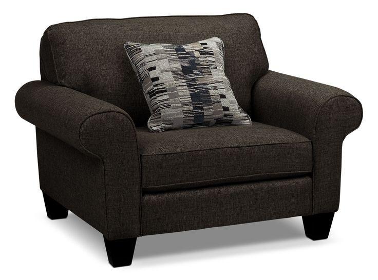 Living Room Furniture - Drake Chair - Pewter
