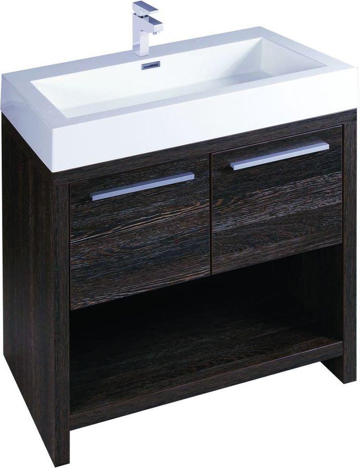 Halcon 750 Double Vanity Unit Dark Oak & Basin | Easy Bathrooms