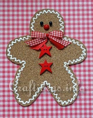 Cork Sheet Gingerbread Man