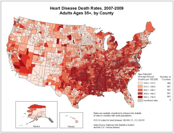 Fact:  Heart disease is the leading cause of death for both men and women. - Centers for Disease Control (CDC)