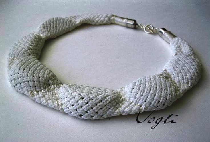 Pebble collar, textile, Vogli Yiota
