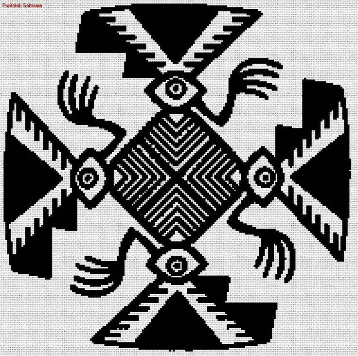 Mejores 233 imágenes de punto de cruz etnico en Pinterest | Punto de ...