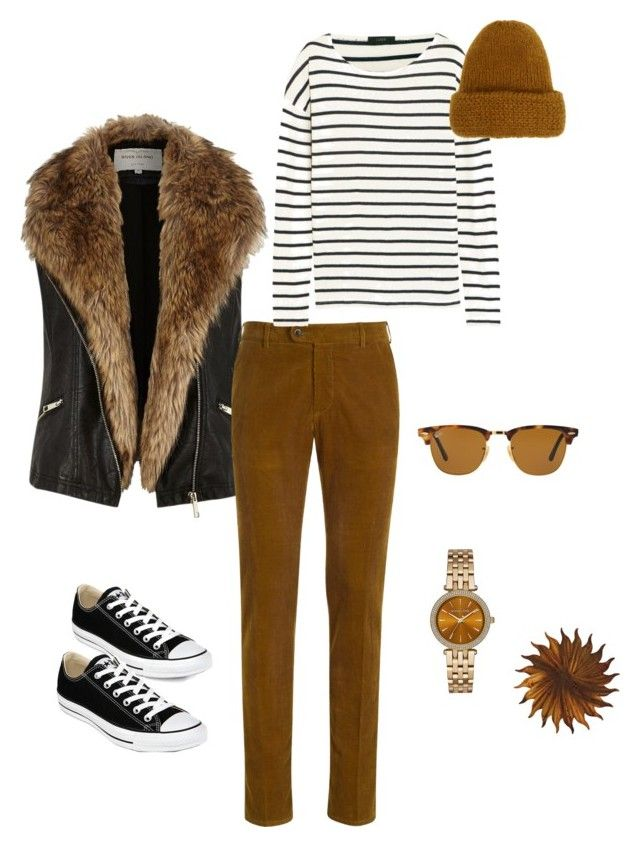 """""""Chillin"""" by jlhack on Polyvore featuring River Island, J.Crew, Converse, Ray-Ban, Tak.Ori, Michael Kors and Next Innovations"""