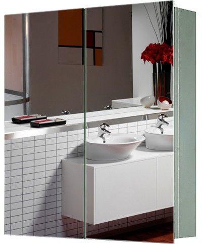 2 Door Mirror Bathroom Cabinet In Stainless Steel Size 600Wx670Hx130D Mm Only 149
