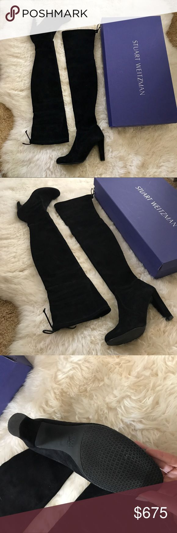 Stuart Weitzman Highland Black Suede Size 7.5 Preowned pair of Stuart Weitzman Over the Knee Highland Black Suede Boots!! In size 7.5!! Gently used in excellent condition. Worn once. These boots are perfect for winter time, elegant suede leather and extremely fitted. Run true to size. 💕💕💕 no low balling.. Hate to let these go but hopefully they will find a new owner that loves them just as much. Comes with original box and receipt. They retail at $798+tax. Send me a reasonable offer and I…