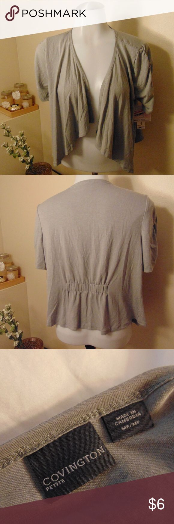 *NWT!* Covington Petite Cardigan NWT! Medium Petite Cardigan. 3/4 Sleeve Length. Covington Sweaters Cardigans