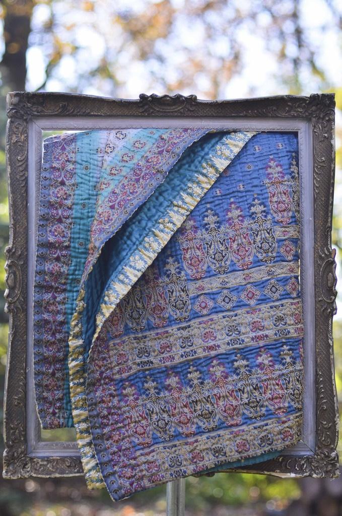 Silk Kantha Throw No. 2
