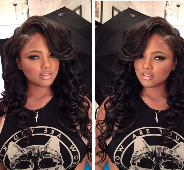 her hair is laid.