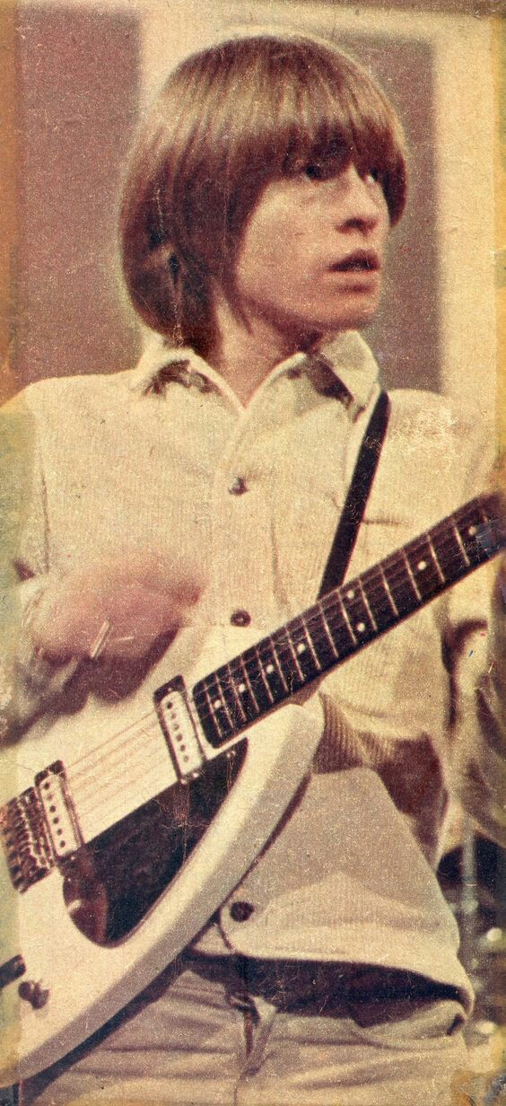 Brian with his famous VOX Teardrop guitar, 1964