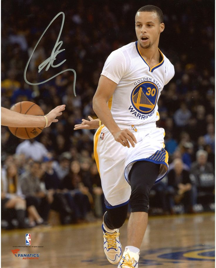 "Stephen Curry Golden State Warriors Autographed 8"" x 10"" Behind Back Photograph"