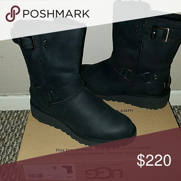BEAUTIFUL NEW UGG BOOTS!! My price is firm for these I payed $250+ tax so please NO OFFERS! these are BRAND NEW 100% authentic UGG boots. I'm size 6.5 and thought i could break into them since they were the last pair at the UGG store and i HAD to have them but it was a bad decision they are just too tight for me The box is damaged with no lid but the boots are in perfect condition UGG Shoes Winter & Rain Boots