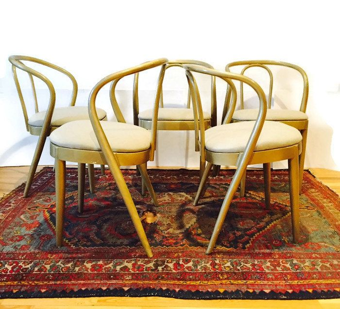 vintage bentwood chair set thonet style dining chair by studio: bentwood chair set thonet style dining