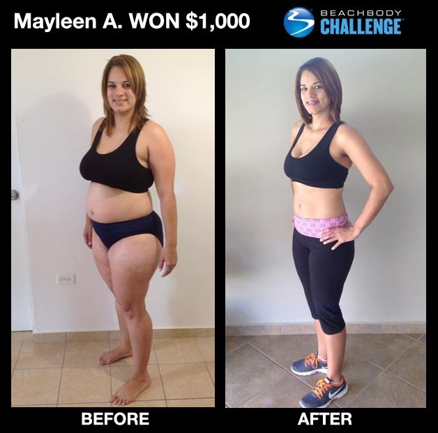 """::Jan. 2013 Women 30-39 Monthly Winner:: Mayleen lost 70 pounds and went from a size 18 to 8 in 5 months with #TurboFire and #Shakeology! --> """"I feel proud of what I have accomplished and my family is happy with my transformation. My health has improved significantly and I feel younger. I have a lot more energy now."""" SEE HER FULL STORY!"""