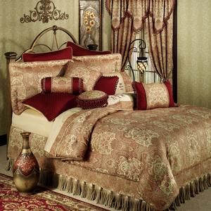 Kalihari Comforter Bedding By Croscill Burgundy Bed