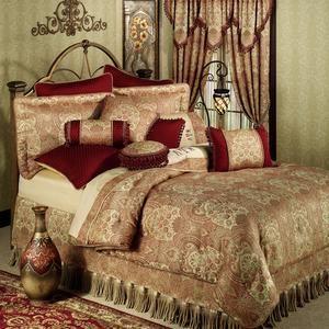 Kalihari Comforter Bedding By Croscill Burgundy Bed