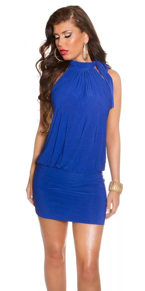 Modré mini šaty