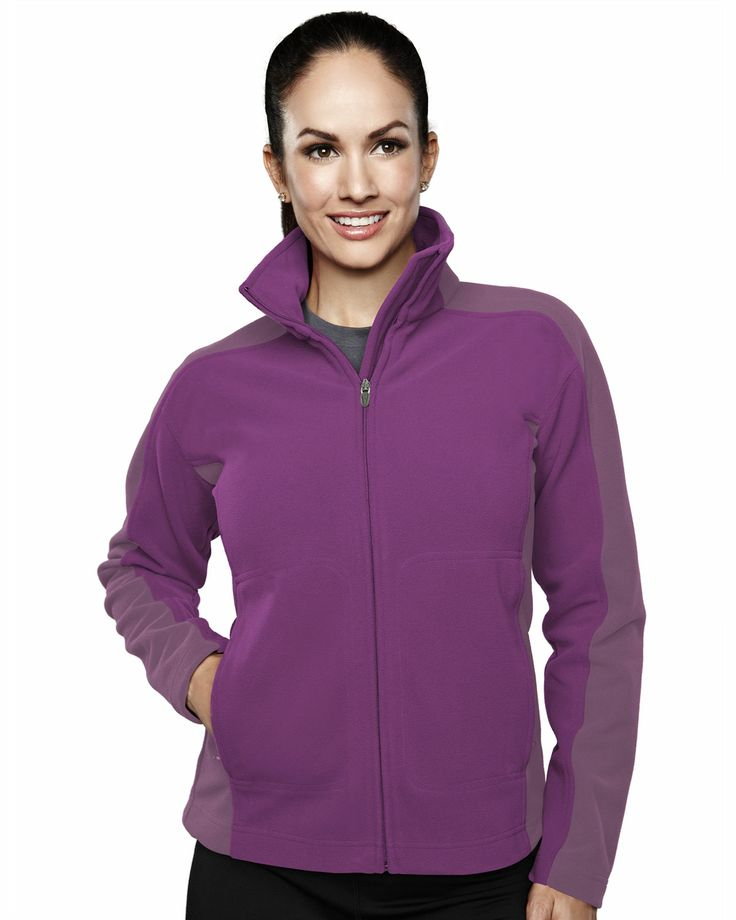 Women's Micro Fleece Bonded Jacket With Membrance (100% Polyester). Tri mountain 7860 #newlook #fresh #style #workout  #EasyCare #SlimFit