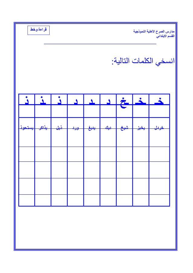 ملزمة لغتي للصف الأول الأبتدائي الفصل الثاني In 2020 Chart Bar Chart Periodic Table