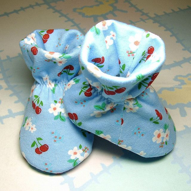 Fabric Baby Booties Pattern Free