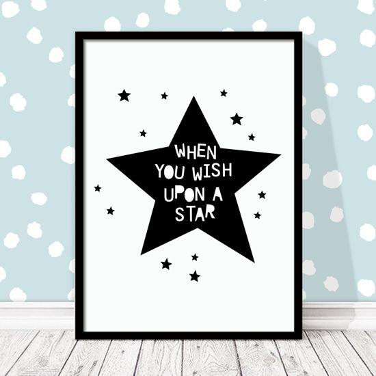 Αφίσα με αστέρια. Πρόταση διακόσμησης για minimal παιδικό δωμάτιο!