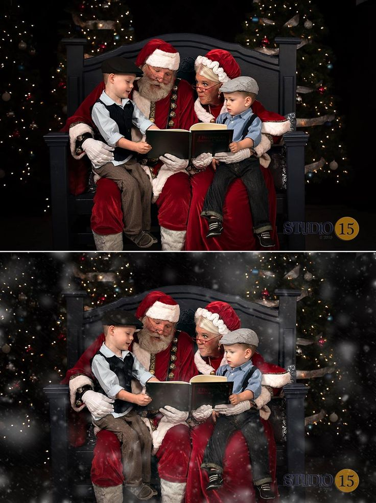Oh my gosh I love this before and after in a studio setting using the Pure snow! It is so magical and adorable!!!! It looks like they are looking thru a snowy window. Take those Holiday mini sessions coming up to a whole new level!!!